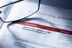Consejo de la opinión de la pregunta del negocio Fotografía de archivo libre de regalías