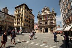 Consejo de Pamplona en Navarra Imagenes de archivo