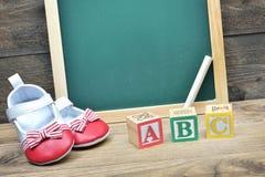 Consejo escolar y palabra ABC Imagenes de archivo
