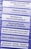 Consejo financiero del impuesto Fotos de archivo libres de regalías