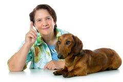Consejo para entrenar a un perro Foto de archivo libre de regalías
