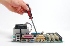 Consejo principal del ordenador de la fijación Imagen de archivo libre de regalías