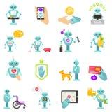 Conselheiro do robô da finança, trabalhos domésticos, medicina ilustração stock