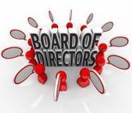 Conselho da ligação de administração Povos Discurso Bolhas Discussão Empresa ilustração stock