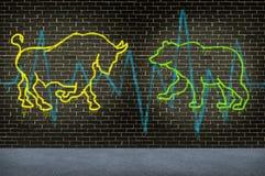 Conselho de mercado de valores de acção da rua ilustração do vetor