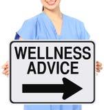 Conselho do bem-estar Imagem de Stock Royalty Free