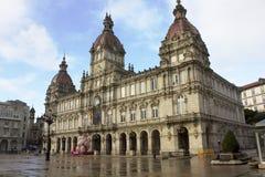 Conselho Municipal a cidade de um Coruna, Spain Fotos de Stock Royalty Free