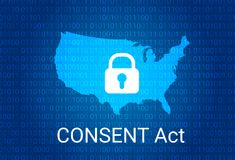 CONSENT Act. Customer Online Notification for Stopping Edge-provider Network Transgressions. Vector. CONSENT Act. Customer Online Notification for Stopping Edge Royalty Free Stock Images