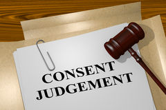 Consent Judgment concept Stock Image