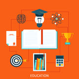 Consept of educational set tools Stock Images