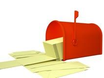 Conseptual spam letter 3d render Stock Images