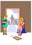 Consequência do divórcio ilustração royalty free