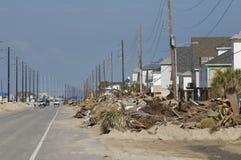 Consequências de Ike do furacão imagem de stock