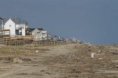 Consequências de Ike do furacão fotografia de stock royalty free