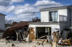 Consequências de Sandy do furacão Fotografia de Stock Royalty Free