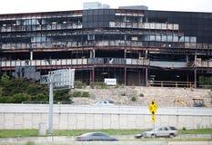 Consequências do ataque do ruído elétrico plano em Austin Texas Imagem de Stock