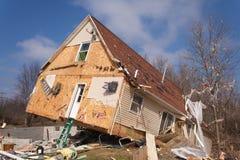 Consequências do furacão em Lapeer, MI. Foto de Stock Royalty Free