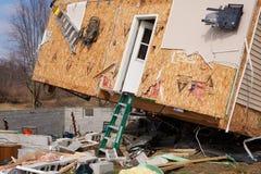 Consequências do furacão em Lapeer, MI. Fotos de Stock