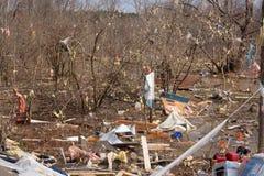 Consequências do furacão em Lapeer, MI. Fotografia de Stock