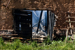 Consequências do incêndio Fotos de Stock Royalty Free