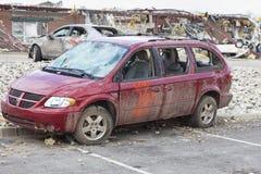 Consequências em Henryville, Indiana do furacão Imagens de Stock Royalty Free