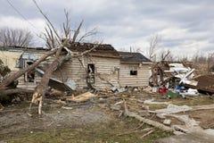 Consequências em Henryville, Indiana do furacão Fotografia de Stock Royalty Free