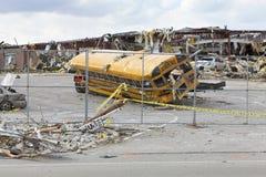 Consequências em Henryville, Indiana do furacão Fotos de Stock