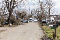 Consequências em Henryville, Indiana do furacão Foto de Stock Royalty Free