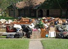 Consequências a inundação de Baton Rouge 2016 Fotografia de Stock