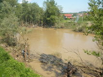 Consequence of the not river ancient flood. This to be flood of Lukavac in Tuzla canton in Bosnia and Herzegovina 15-18 may 2014,This images 21.may.2014 year.On stock photo
