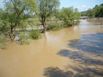 Consequence of the not river ancient flood. This to be flood of Lukavac in Tuzla canton in Bosnia and Herzegovina 15-18 may 2014,This images 21.may.2014 year.On royalty free stock images