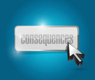 Consequences button illustration design Royalty Free Stock Photography