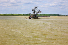 Consequences of catastrophic flood in the open pit mine Royalty Free Stock Photography