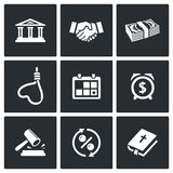 The consequences of the credit icons. Vector Illustration Royalty Free Stock Photography