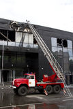 Consequences of a fire in a Druzhba sports complex in the city o Stock Image