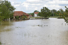 The consequences of flooding,flooded house stock photo