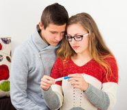 Consequences of Irresponsible Sex. Sorrowful young couple facing real problem, pregnancy stock photos