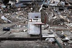 Tsunami japan 2011 fukushima. Consequences of the tsunami in Japan in 2011, Fukushima, 03/30/2011 Stock Photos