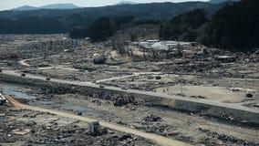 Tsunami japan 2011 fukushima. Consequences of the tsunami in Japan in 2011, Fukushima, Photo taken in kamaishi 11/23/2011 stock footage