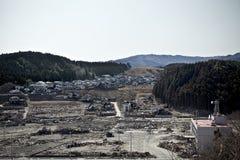 Tsunami japan 2011 fukushima. Consequences of the tsunami in Japan in 2011, Fukushima, 03/30/2011 Royalty Free Stock Photo