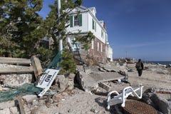 Consequências de Sandy Fotografia de Stock