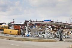 Consequências em Henryville, Indiana do furacão Imagem de Stock