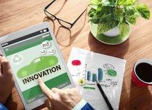 A conservação ambiental da inovação da ecologia vai invenção verde Imagem de Stock