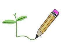 Conservação de natureza de papel recicl lápis Imagens de Stock