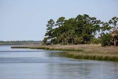 Conserva aquática da baía de Apalachicola em um dia imóvel Fotos de Stock Royalty Free