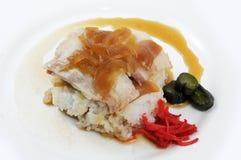 Conserva fresca do arroz branco da carne de porco Imagem de Stock Royalty Free