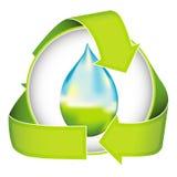 Conservación de agua ilustración del vector
