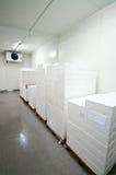 Conservación en cámara frigorífica imagenes de archivo
