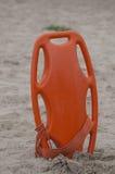 Conservante de vida no Sandy Beach Imagens de Stock Royalty Free