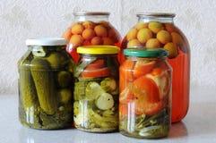 Conservas alimentares da casa Foto de Stock Royalty Free